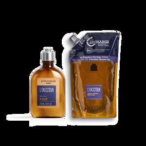 L'Occitan Shower Gel Eco Duo, , AU